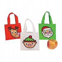 Christmas Google Eye Mini Tote Gift Bags (1)